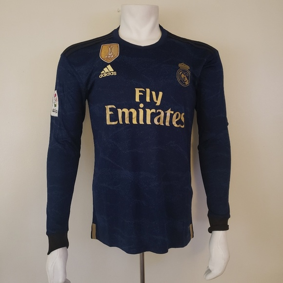 huge selection of 7489f e2158 🆕️ REAL MADRID LONG SLEEVE AWAY FAN JERSEY 19/20 NWT